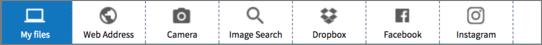 Upload widget tabs