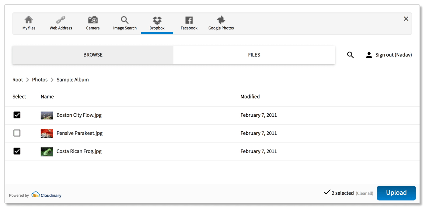 how to delete files from dropbox folder