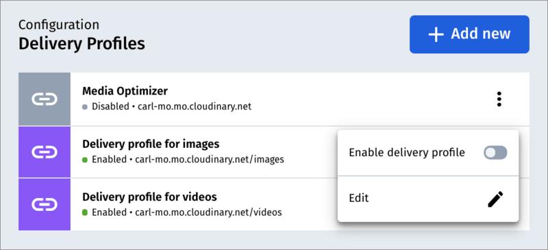Default Media Optimizer delivery profile