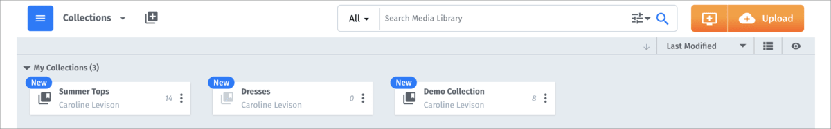 Media Library collections