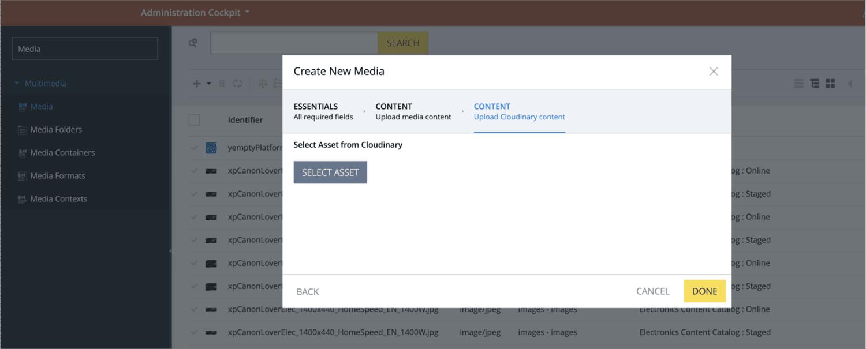 Select a media asset