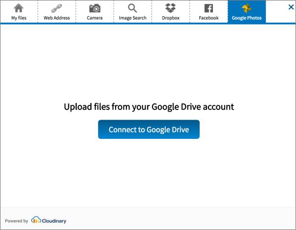 Google Photos tab