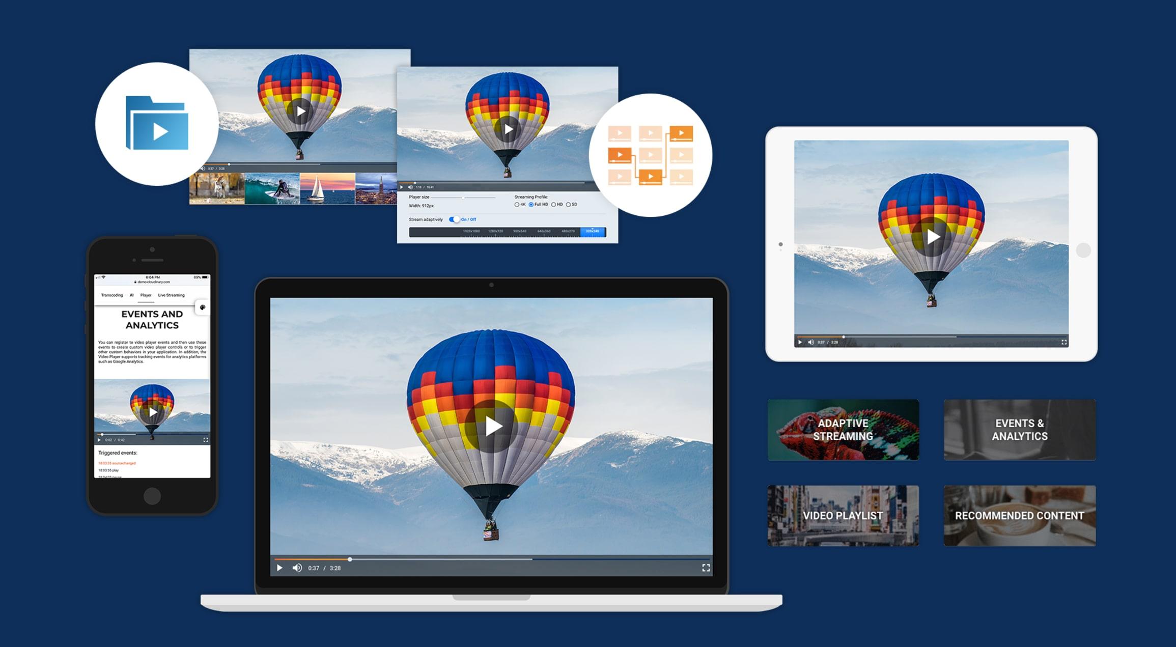 Adaptive HLS Streaming Using the HTML5 Video Tag