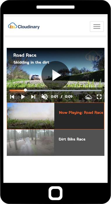 Mobile playlist widget