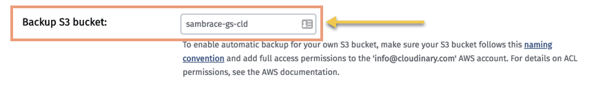 Google Cloud Storage Bucket Placement in Cloudinary Console