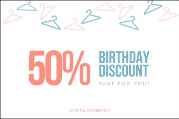 personalized discount graphic