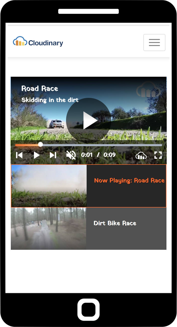Cloudinary Video Player Playlists and Recommendations
