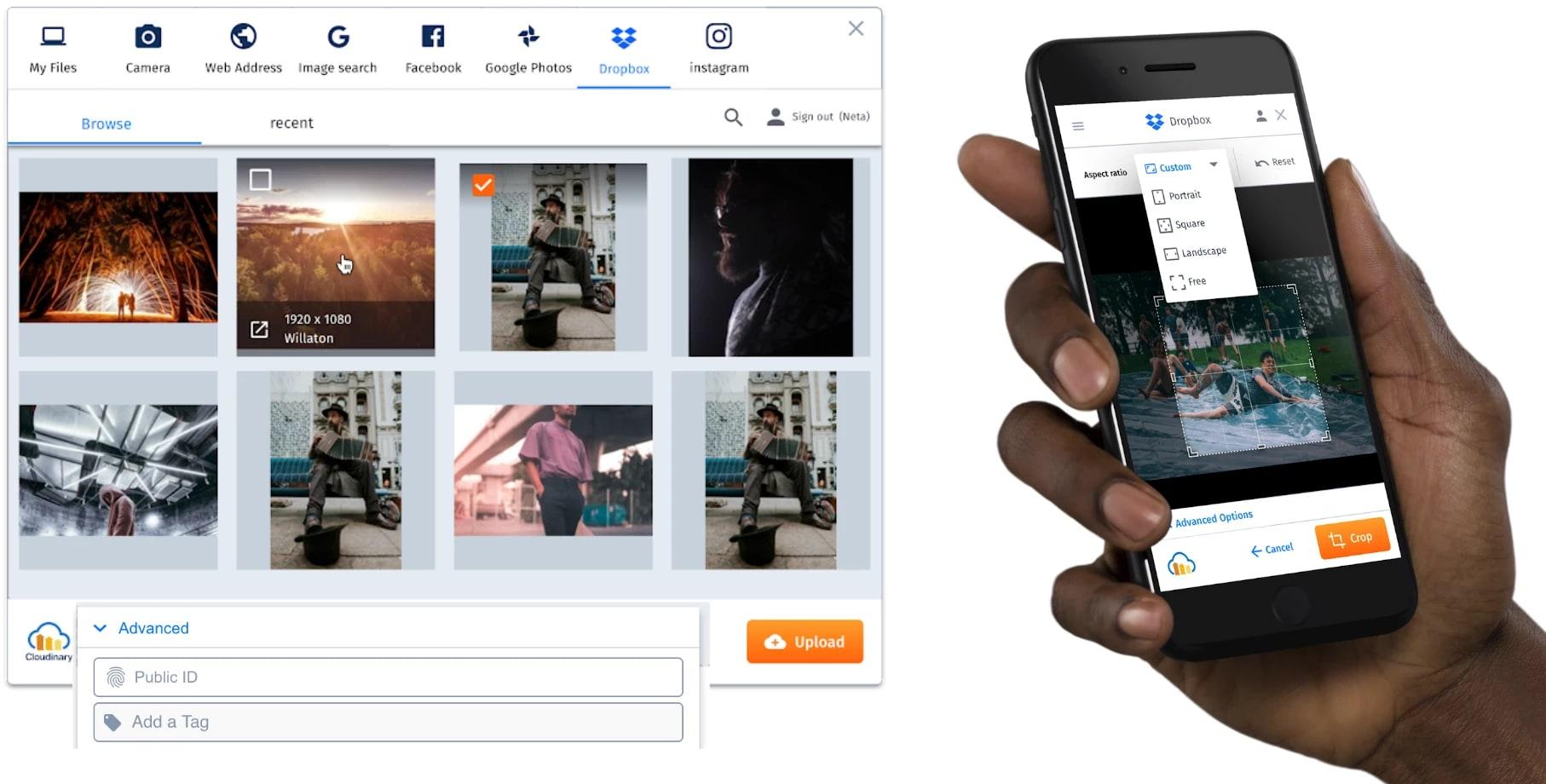 Upload Widget 2.0 live demo app