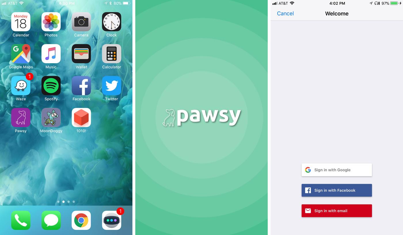 Pawsy iOS