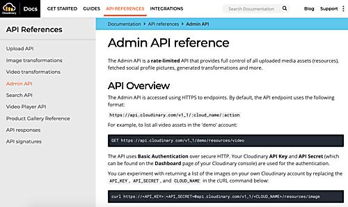 Admin API Reference