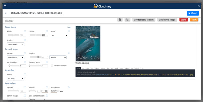 media library widget